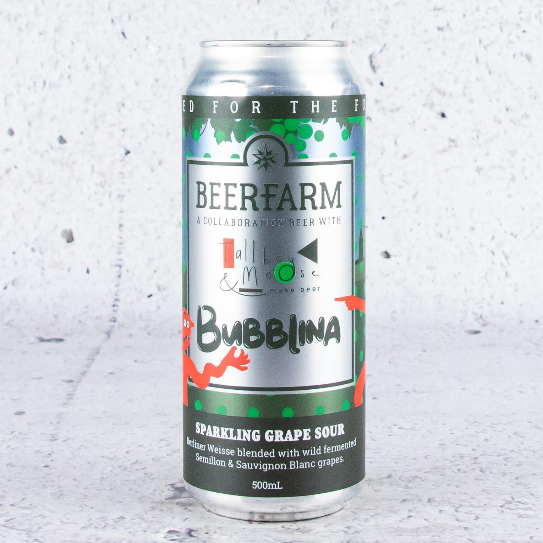Beerfarm x Tallboy & Moose Bubblina Sparkling Grape Sour